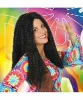 Carnaval hippie flower power pruik voor dames carnavalskleding