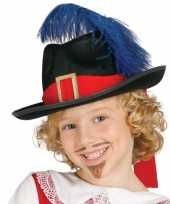 Carnaval hoed musketier kind carnavalskleding