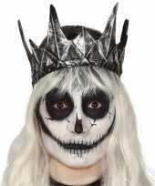 Carnaval zilveren koningskroon carnavalskleding