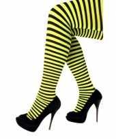 Carnavalskleding halloween geel zwarte heksen panties maillots verkleedaccessoire voor dames carnava