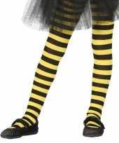 Carnavalskleding halloween geel zwarte heksen panties maillots verkleedaccessoire voor meisjes carna