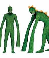 Carnavalskleding reptielen monster voor volwassenen carnavalskleding
