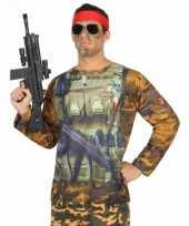 Carnavalskleding soldaten shirt carnavalskleding