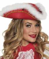 Dansmarieke hoedje rood en wit carnavalskleding