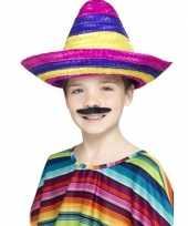 Gekleurde mexicaanse sombrero kind carnavalskleding