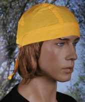 Gele bandana voor dames en heren uni 1 carnavalskleding