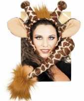 Giraffe verkleed setje voor volwassenen carnavalskleding
