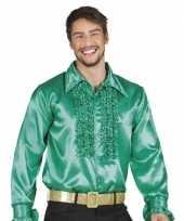 Groene disco blouse voor heren carnavalskleding