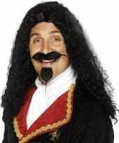 Heren musketierspruik carnavalskleding