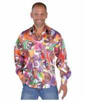 Hippie shirts heren fun carnavalskleding