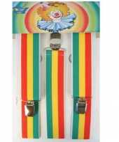 Jamaicaanse gekleurde bretels carnavalskleding