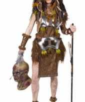 Kanibalen stam kostuum voor dames carnavalskleding