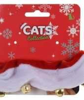 Katten poezen halsbandjes in kerst thema carnavalskleding