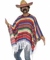Mexicaans kostuums poncho carnavalskleding