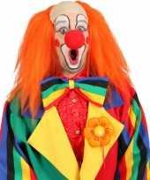 Oranje clown pruik carnavalskleding
