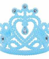 Prinsessen tiara in het blauw carnavalskleding