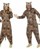 Pyamapak luipaard voor dames en heren carnavalskleding