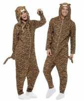 Pyamapak tijger voor dames en heren carnavalskleding