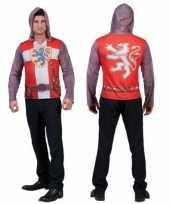 Ridder shirt met capuchon 3d ridder carnavalskleding