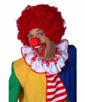 Rode clowns pruik carnavalskleding