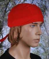 Rood gekleurde bandana uni 1 carnavalskleding