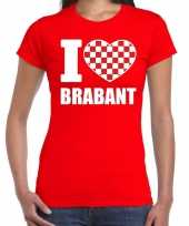 Rood i love brabant t-shirt dames carnavalskleding