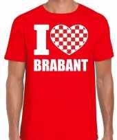 Rood i love brabant t-shirt heren carnavalskleding