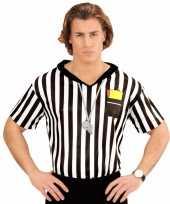 Scheidsrechter verkleed shirt voor heren carnavalskleding