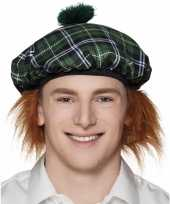 Schotse verkleedaccessoires muts carnavalskleding