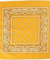 Sjaal geel met print carnavalskleding