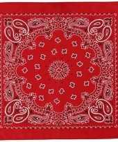 Sjaal rood met print carnavalskleding