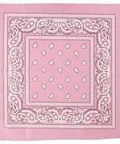 Sjaal roze met print carnavalskleding