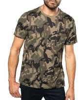 Soldaten leger verkleedkleding camouflage shirt heren carnavalskleding