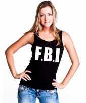 Tanktop fbi dames zwart carnavalskleding