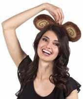 Tiara bruine apenoren voor volwassenen carnavalskleding