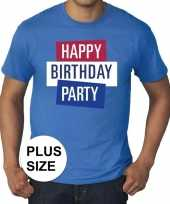 Toppers grote maten toppers happy birthday party heren t-shirt officieel carnavalskleding