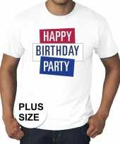 Toppers grote maten wit toppers happy birthday party t-shirt officieel carnavalskleding