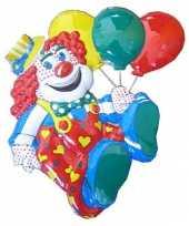 Versiering clown met ballonnen 50cm carnavalskleding