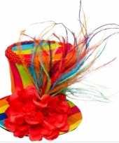 Vintage zwarte hoedje met tule carnavalskleding