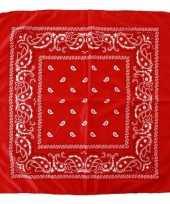 Voordelige rode boeren zakdoek 53 x 53 cm carnavalskleding
