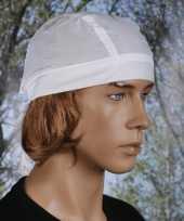 Witte bandana uni 1 carnavalskleding