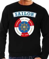 Zeeman sailor verkleed sweater zwart voor heren carnavalskleding