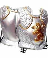 Zilverkleurige middeleeuws harnas carnavalskleding