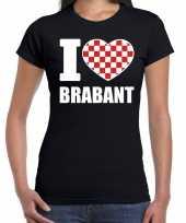 Zwart i love brabant t-shirt dames carnavalskleding