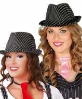 Zwarte gleufhoed voor dames carnavalskleding